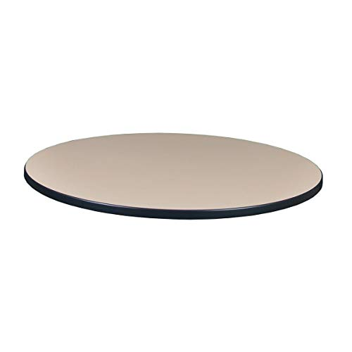 (Regency TTRD42CHPL Round Standard Table Top, 42-inch, Cherry/Maple)