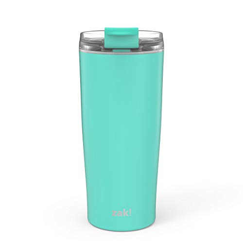 Zak Designs Aberdeen Stainless Steel Double Wall Vacuum Insulated Tumbler with Leak Proof Flip Lid that Locks in Place, and Fits in Most Car Cup Holders (20oz, Tropic, 18/8, BPA Free)