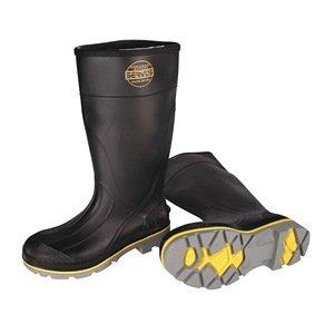 Knee Boot, Mn, 10, Stl Toe, Blk/Ylw/Gry, 1PR