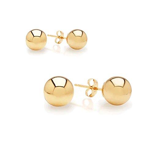 Yellow Gold 4mm Ball Earrings - 9