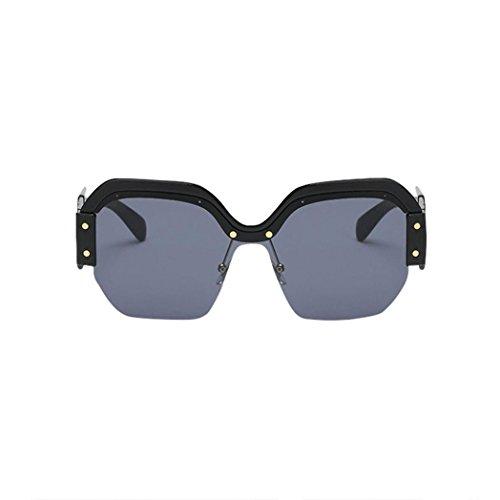 Forthery Women Classic Semi Rimless Polarized Sunglasses Half Frame Wayfarer Eyewear UV400 (A) - De Designer Eyewear