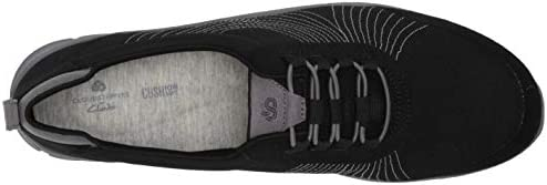 Clarks Women\'s Step Allena Bay Sneaker, Black Textile, 95 M US