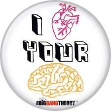 The Big Bang Theory I HEART YOUR MIND Small Badge Button
