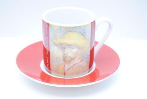 (Vincent Van Gogh Self Portrait Espresso Cups & Saucer by Vincent Van Gogh)