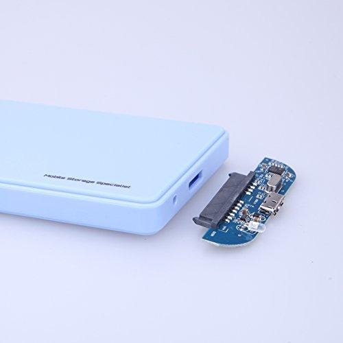 WinnerEco 2.5inch USB 3.0 SATA HD Box HDD Hard Drive External Enclosure Case White