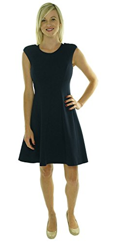 Rebecca Taylor Sleeveless Fit and Flare Dress Navy 0