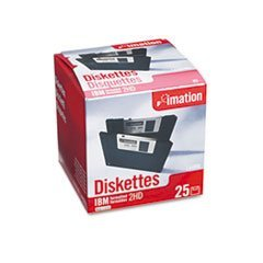 3.5'' Floppy Diskettes, IBM-Formatted, DS/HD, 25/Pack by imation