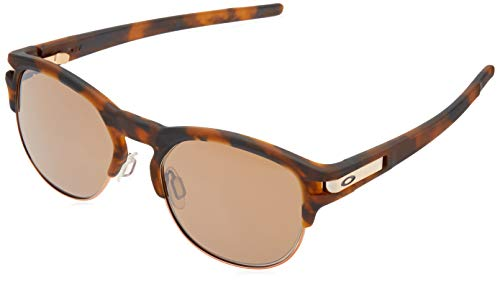 (Oakley Men's OO9394 Latch Key Round Sunglasses, Matte Brown Tortoise/Sapphire Iridium Polarized, 55 mm)