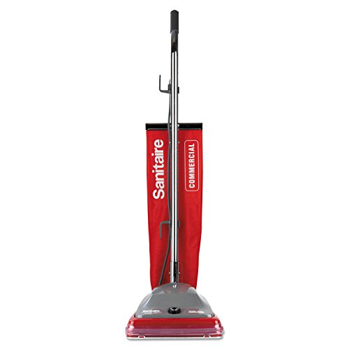 Electrolux Sanitaire Sanitaire Commercial Upright Vacuum w Vibra-Groomer II, 16lb, Red
