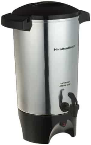 Hamilton Beach 40515 40515R 45-Cup Coffee Urn, Silver, Medium