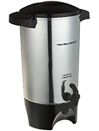 Hamilton Beach 40515 40515R 45-Cup Coffee Urn, Silver, Medium,