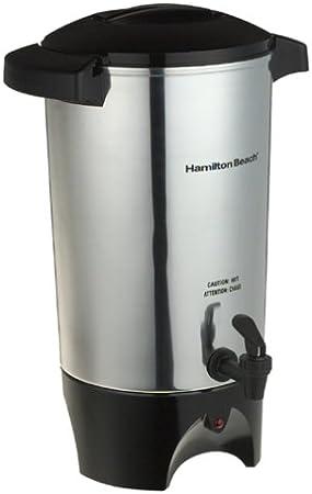 Hamilton Beach 45 Cup Coffee Urn and Hot Beverage Dispenser, Silver (40515R)