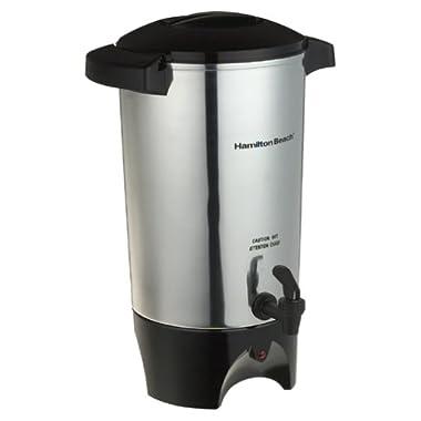 Hamilton Beach 40515 42-Cup Coffee Urn, Silver