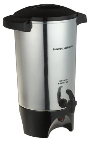 Hamilton Beach 45 Cup Coffee Urn and Hot Beverage Dispenser, Silver (40515R),