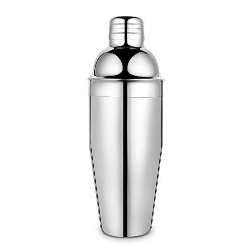 Cocktail Shaker,18/8 Grade Stainless Steel Martini Shaker, 25 Ounce Drink Shaker-Built in Strainer,Professional Bar Tools,Bartender Kit