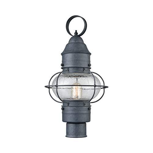 Elk Lighting 57172/1 Onion 1 Outdoor Aged Zinc Post Mount,
