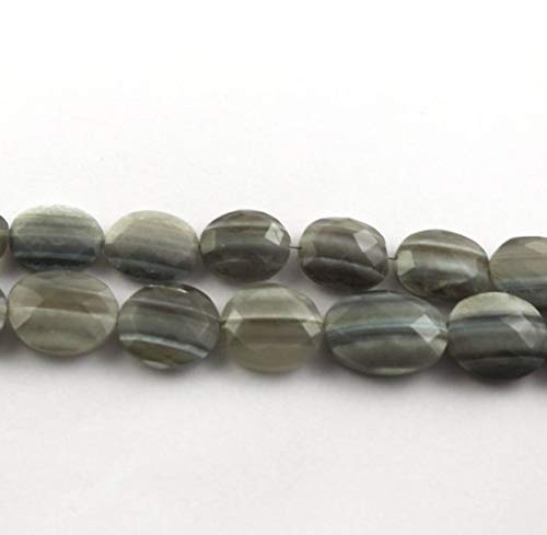 (KALISA GEMS Beads Gemstone 2 Strand Natural Bio Blue Opal Faceted Briolettes -Oval Shape Beads. 14mm-19mm 8.5 inches)