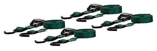 Curt Manufacturing Cambuckle Tie Down Cargo Straps 1inx16ft 4 Pack Green by Curt Manufacturing