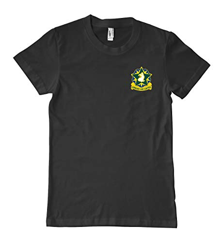 US Army 221st Military Police Brigade Unit Crest Military T-Shirt 100% Cotton Black