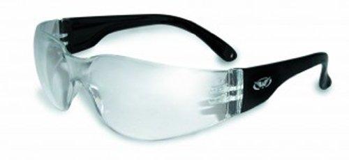 Global Vision Eyewear Rider Anti-Fog Safety Glasses, Clear L