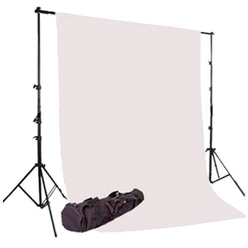 CowboyStudio Photography 6X9ft White Muslin Backdrop with Support System and Carry Bag by CowboyStudio