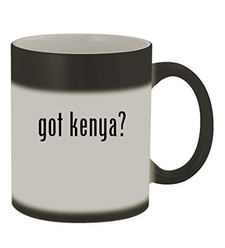 got kenya? - 11oz Color Changing Sturdy Ceramic Coffee Cup Mug, Matte Black