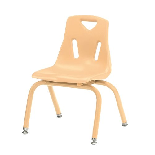 om Stacking Chairs with Powder-Coated Legs 14