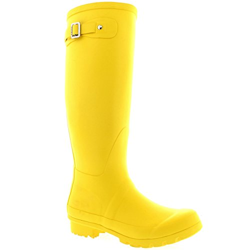 lluvia Tall Original chanclos Womens Amarillo la Nieve Invierno impermeable botas BZWwX
