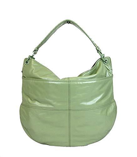 Bottega Veneta Women's Green Leather Hobo Woven Detail Bag 309343 3414