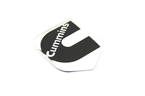 1 NEW 94-02 CUMMINS SECOND GEN WHITE AND BLACK CUSTOM GRILL EMBLEM BADGE (Grill Custom compare prices)