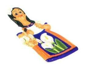 MEXICAN INDIAN LADY 3-D TRIVET / slice *NEW!*