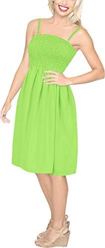 Tinkerbell Dress Women (LA LEELA Women's Beach Regular Office Work Swing Tube Dress US 0-14)