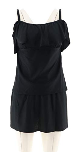 Isaac Mizrahi Convertible Tankini Skirt Black 4 New A303187 from Isaac Mizrahi Live!
