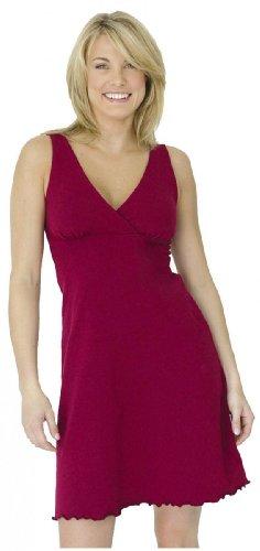 Majamas Nursing & Maternity Organic Sleepy Dress Merlot (Majamas New Nursing Clothes)