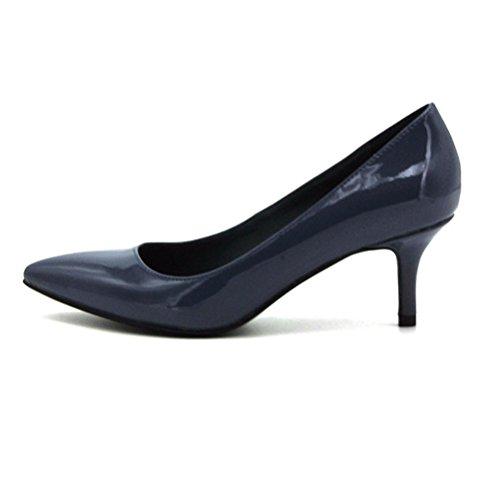Mouth talon Shallow simples mode XIE femmes femmes chaussures Les confortables talons chaussures haut blue pointu hidden UI44XpYqw