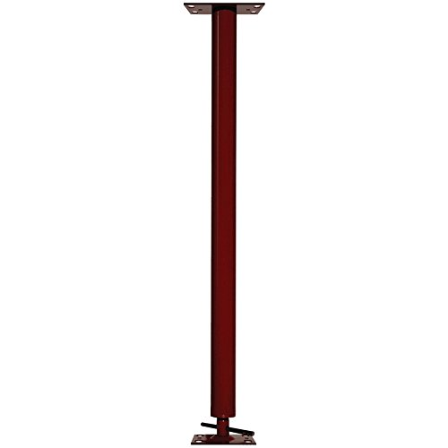 Akron Products P M/H304-40 3.5'' Adjustable Steel Columns, Monopost, 7'- 7'4'', 11 Gauge, Schedule 40, 84'' Length, 84'' Height, Red