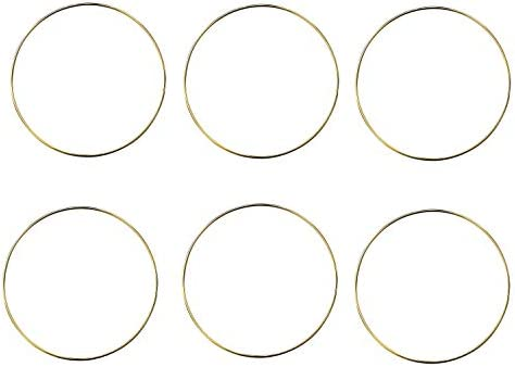 Yaromo 4 Pack 14 Inch Large Metal Floral Hoop Wreath Macrame Gold Hoop Rings for DIY Christmas Wedding Wreath Decor Dream Catcher and Macrame Wall Hanging Crafts