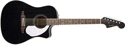 Fender Sonoran SCE Dreadnought Cutaway Acoustic-Electric Guitar – Black