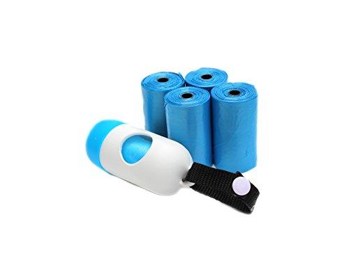 Diaper Trash Bags,Premium Disposable Plastic Diaper Refill Bags,Baby Poof Bags,Mini Trash Bag/Can,Dispenser,Unscented,100 Count(Blue)