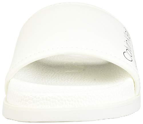 White Hombre industrial Klein Rubberized Sandalia F0985 Smooth Calvin Art wRHTHq