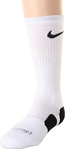 Nike Dri-Fit Elite Basketball Socks (Small, White/Black/(Black)) (Kids Elites Nike Socks For)