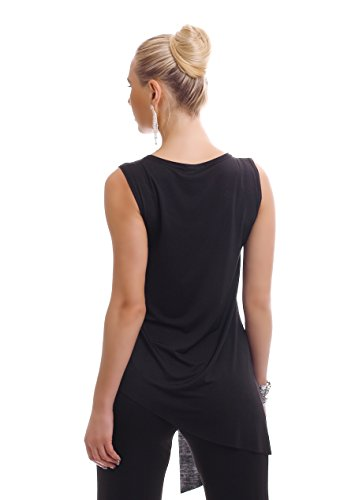 WeaModa - Camiseta sin mangas - para mujer negro