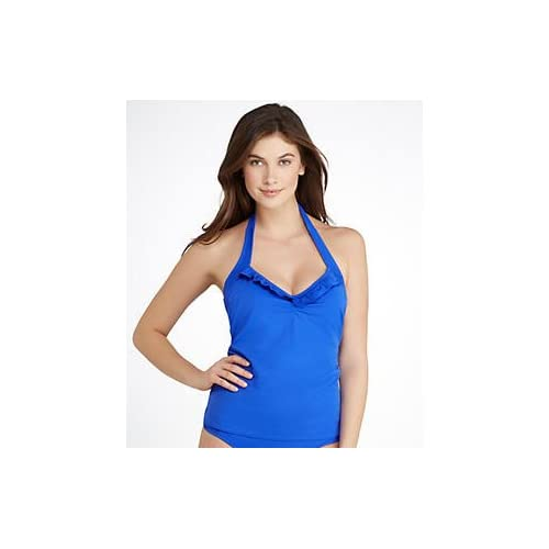 30d2ad7809342 low-cost Freya In The Mix 50's Halter Tankini Top, 36G, Marine Blue ...