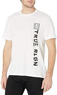 True Religion Tyson Playera de Manga Corta y Cuello Redondo Camiseta para Hombre