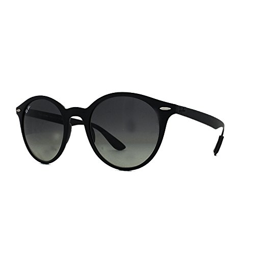 Ray-Ban Plastic Unisex Round Sunglasses, Matte Black, 51 mm by Ray-Ban