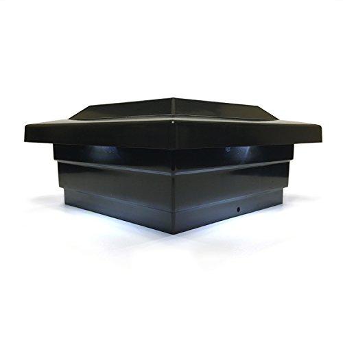 Solar Post Cap Light LED Low Profile Black 5