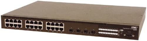 SMC8624T TigerSwitch 10//100//1000 24 10//100//1000Port Gigabit Managed Switch with 4 associated SFP Mini-GBIC Slots
