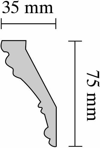 Gianna 35 x 75 mm longueur 2 m Decosa Moulure G6