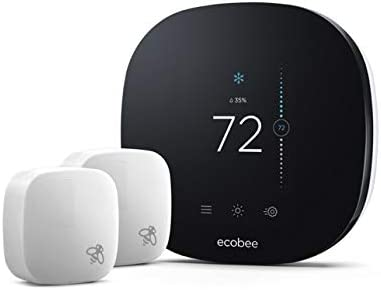 ecobee3 Lite Smart Thermostat with 2 Room Sensors, Black ...
