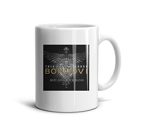 a Mugs Bon-Jovi-Rock-Band-This-is-Our-House- Cups Espresso Ceramic Mug Unique for Mom ()